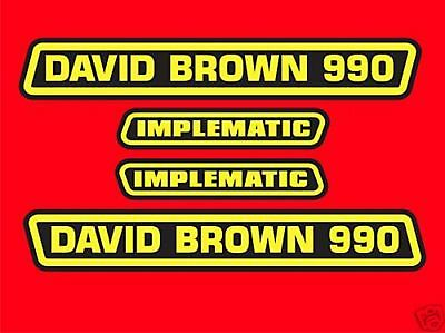 Tractor Repro Decals David Brown 990 Implematic
