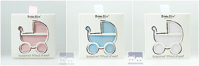 Bubba Blue EVERYDAY ESSENTIAL Bassinet Fitted Sheet (3 colors available)
