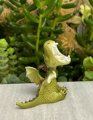 Miniature Dollhouse FAIRY GARDEN ~ Roaring Mini Dragon Figurine ~ NEW