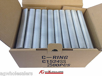 2500 24Mm Stainless Steel Pneumatic Air C24 Hog Ring C Clip - Fence Ringer