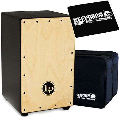 LP Latin Percussion LP1426 Adjustable Cajon + keepdrum Gig Bag + Pad CP-01