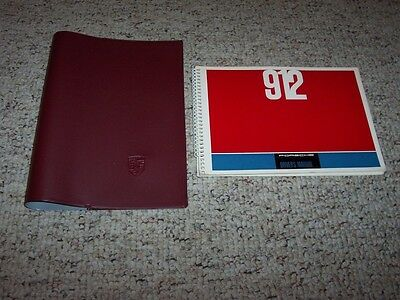 1966 Porsche 912 Owner's Owners Operator Driver's Manual Book w/ Case Edition V