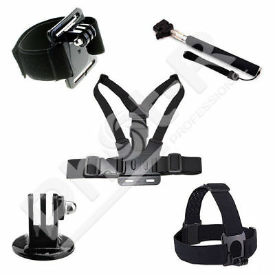 PhotR Accessories Chest Wrist Head Strap Monopod Mount Kit for GoPro Hero 5 4 3+