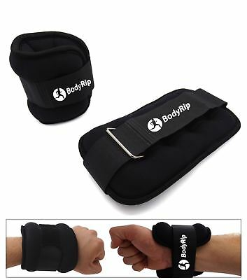2 x Wrist Ankle Leg Hand Weight Strap Wrap Fitness Gym Training Various Weights