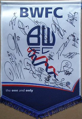 17 Signed Bolton Wanderers 2012/13 Squad Pennant