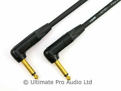 Klotz Cable Guitar Lead Black Gold Neutrik Right to Right Angle Jack AC106