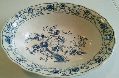 ming tree double phoenix serving bowl oval