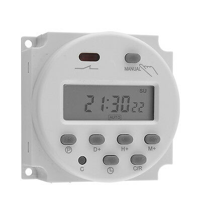 12 Volt 16 Amp LCD Digital Display Programmable Time Timer Switch for Light