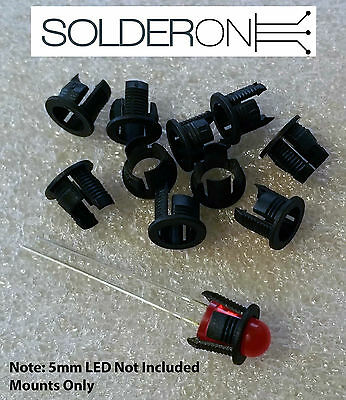 10pcs 5mm LED Mount Bezel Holder Clip - AU STOCK