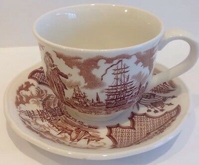 2 ALFRED MEAKIN Fair Winds Cups With Saucers