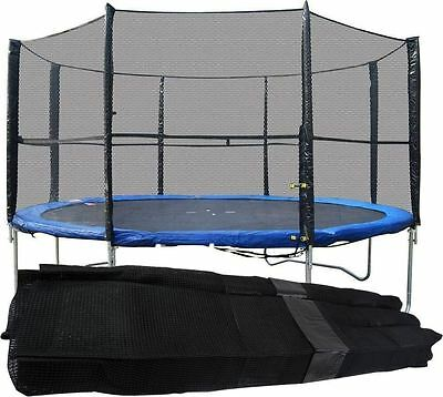 Trampoline Safety Enclosure Replacement Surround Cover Net 8FT 10FT 12FT 14FT