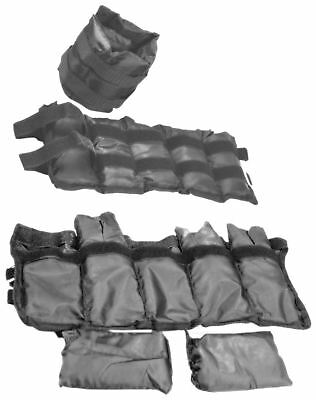 Wrist & Ankle Weighted Straps Set Adjustable Sandbags 1kg 1.5kg 2kg Fitness