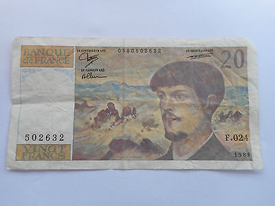 France Billet De 20 Francs Claude Debussy 1989 502632