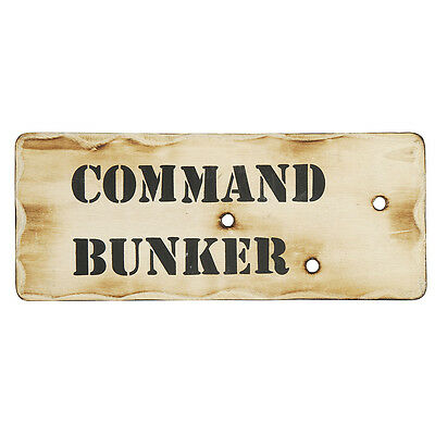 Kids Army Command Bunker - Wall Decor Sign - Wooden Army Sign