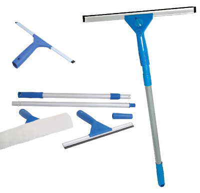 TELESCOPIC Window Cleaning Washing Kit Washer Wash Pole Large Cleaner Squeegees