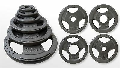 Olympic Tri Grip Weight Plates Discs Fitness Gym Training 1.25kg-25kg