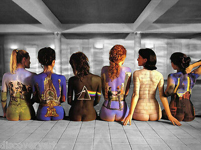 Pink Floyd Back Catalogue Album Streched Canvas Wall Art Poster Print Music