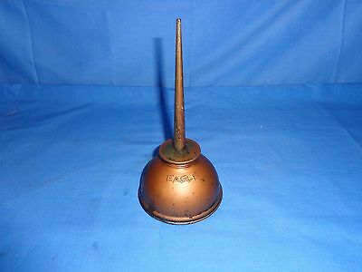VINTAGE COPPER PLATED OIL CAN oiler tool machinist blacksmith EAGLE U.S.A.