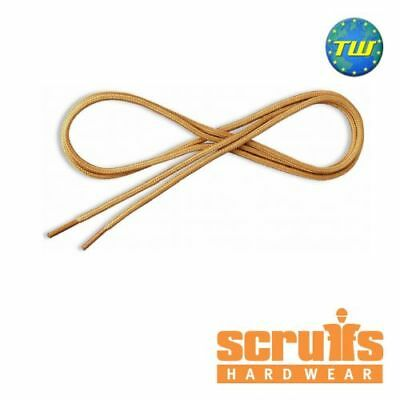 Scruffs Laces Light Tan Round 160cm - Safety Boot Laces T52411 / T53464