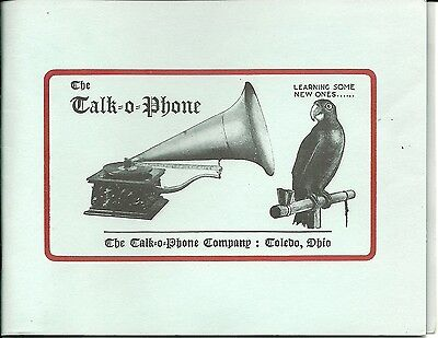 The Talk=O=Phone Victor Talking Machine Advertisement & Price Guide Catalog