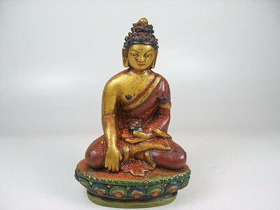 Clay Buddha Hand Painted 9,5 cm