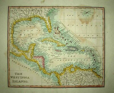 1803 (1811) JOHN CARY (Darton Ed.) CARIBBEAN WEST INDIES GULF SE United States