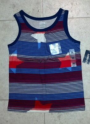 NWT Old Navy Toddler Girl 2T Tank Top RED WHITE BLUE Patriotic JULY 4TH Military