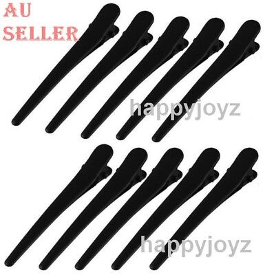 10 Sectioning black Large Prong Hair clip Hairdressing Salon Spa Hair grip Clamp