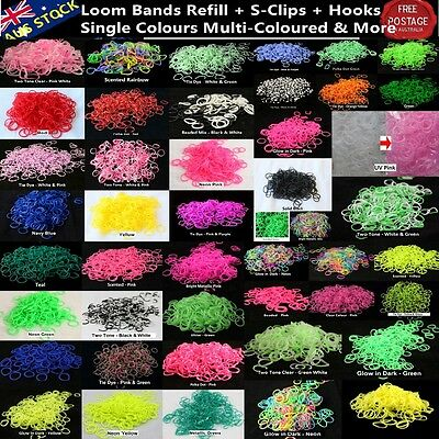 600+ Loom Bands Kit Refill w Hook S-Clips