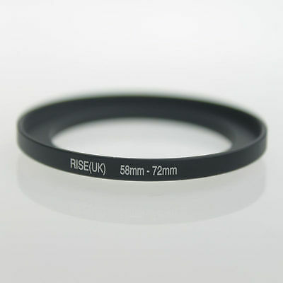 58mm-72mm 58-72 mm 58 to 72 Metal Step Up Lens Filter Ring Adapter Black