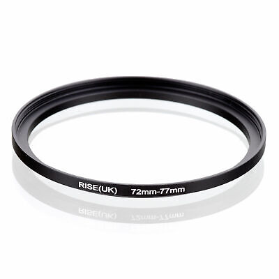 72mm-77mm 72-77 mm 72 to 77 Metal Step Up Lens Filter Ring Adapter Black