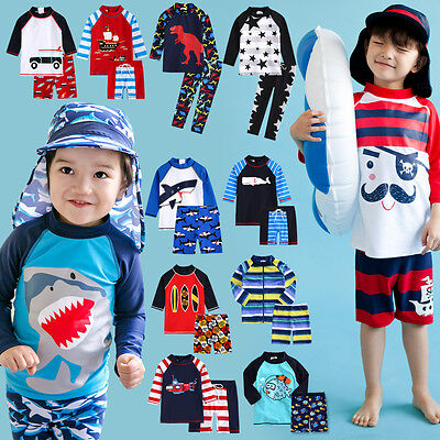 "Vaenait Baby Toddler UPF+50 Kids UV Rashguard Swimming set ""Boys swimsuit"" 2T-7T"