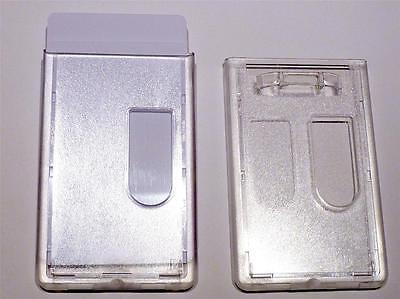 ID Card fuel security card Holder Portrait 2 cards holder Clear polycarbonate