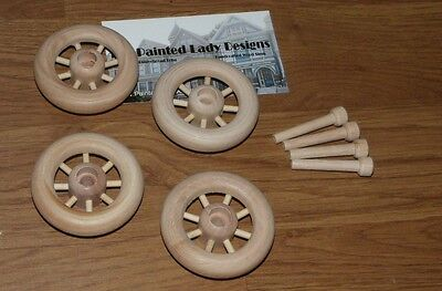 "Wood Wheels w/ Spokes ~ Antique Toy Making Parts Wagons { 1 1/2"" Dia. } ~ by PLD"