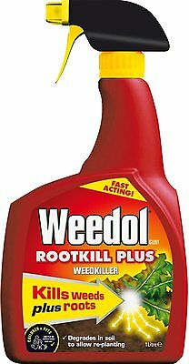 Weedol Gun Root Weed Killer Plus 1 L Ready To Use Fast Acting Spray Prevent