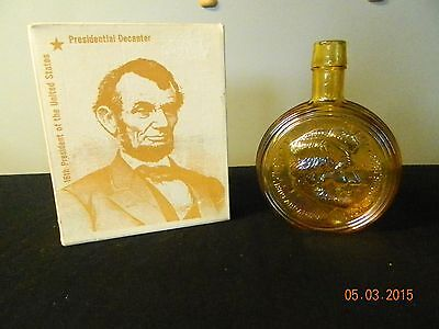 Presidential decanter Abe Lincoln, wheatons glass, rare