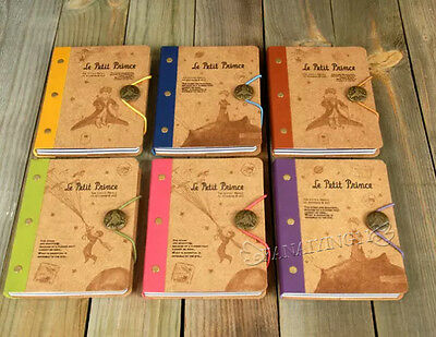 Retro Little Prince Button Band Hard Cover Diary Book Planner Book Notebook BK24