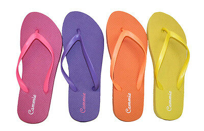 683ef746eb28a Womens Flip Flop Solid Neon Color Straps Soft and Comfortable Fit Style W044