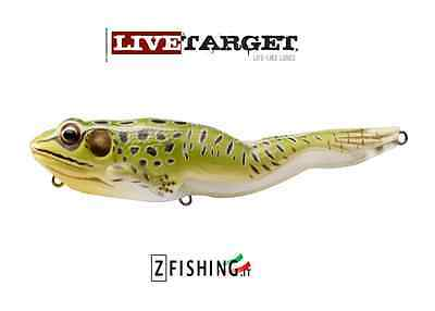 ESCA ARTIFICIALE FROG WALKING BAIT RANA LIVETARGET bass luccio pike spinning
