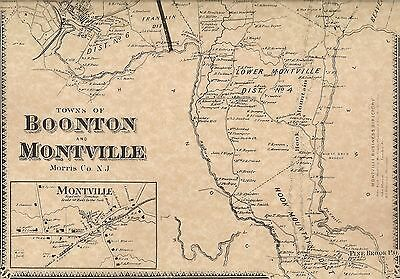 Boonton Montville Taylortown Pine Brook NJ 1868 Maps with Homeowners Names Shown