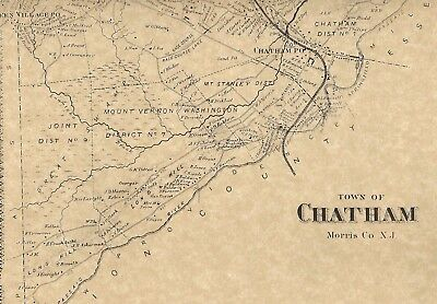 Chatham Madison Green Village Florham Park  NJ 1868 Maps  Homeowners Names Shown