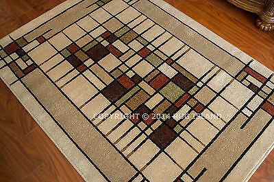 Arts & Crafts Mission Style Indoor Outdoor Area Rug **FREE SHIPPING**