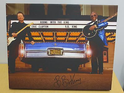 B.B. KING AUTOGRAPHED/SIGNED 16x20 CANVAS