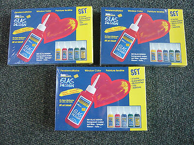 3x Fenstermalfarbe / Window Color Set Sonderposten