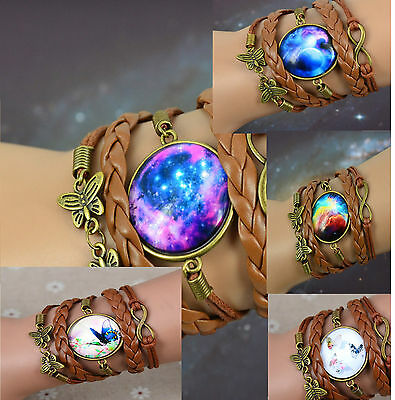New 2017 Variations Of Infinity,butterfly, Cabochon, Moon, Galactic Bracelets