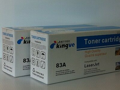 2PK New Compatible Black Toner for HP CF283A 83A fits HP Pro MFP M127fw,M125mw