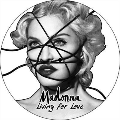"""MADONNA living for love (etched vinyl) 12"""" LIMITED edition (500 copies) UNPLAYED"""