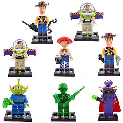 Toy Story 3 Buzz Jessie Woody Ken 8 Lots Minifigures Building Bricks Toys lego