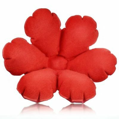 Inflatable Red Flower Bath Daisy Pillow Back Neck Cushion with 1 Suction Cup New
