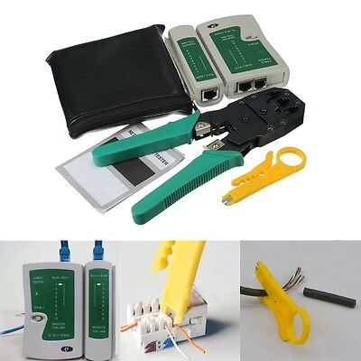 RJ45 RJ11 RJ12 CAT5 LAN Network Tool Kit CablE Tester Stripper Crimper Plier